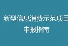 2021年新型信息消费示范项目申报工作启动(附申报指南)