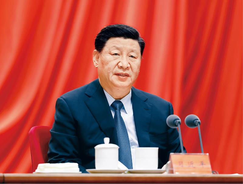 2021年2月20日,党史学习教育动员大会在北京召开。中共中央总书记、国家主席、中央军委主席习近平出席会议并发表重要讲话。新华社记者 黄敬文/摄