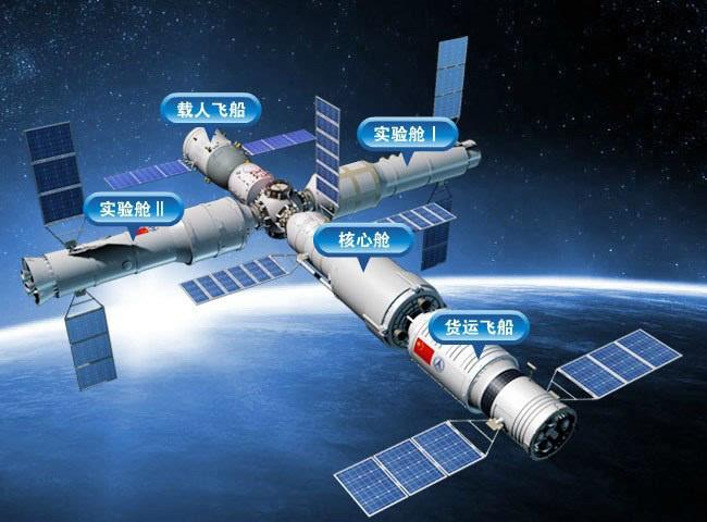 中国空间站天和核心舱  图片来源:腾讯新闻