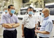 倪岳峰在宁夏调研时强调 助力企业转型升级 以高水平开放促进高质量发展(图)
