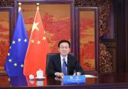 韩正同欧盟委员会执行副主席蒂默曼斯举行第二次中欧环境与气候高层对话