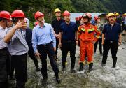 """黄强在雅安市天全县指导""""9·25""""山洪泥石流灾害应急抢险救援工作"""