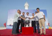交通运输部在南海华阳礁举行两座大型灯塔竣工发光仪式