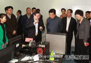 贾庆林到清华大学视察,有自动化系教授汇报